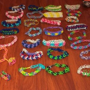 Jewelry - Rainbow Loom Bracelets Rings Bundle